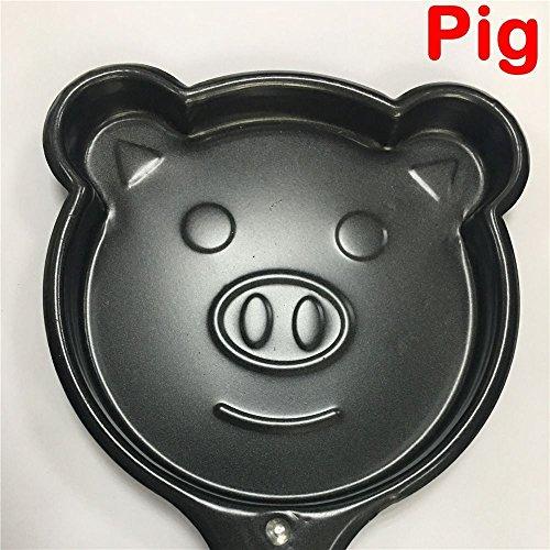 UNAKIM--Cartoon Omelette Pancake Egg Frying Pan Mini Saucepan Non-Stick Pot pig