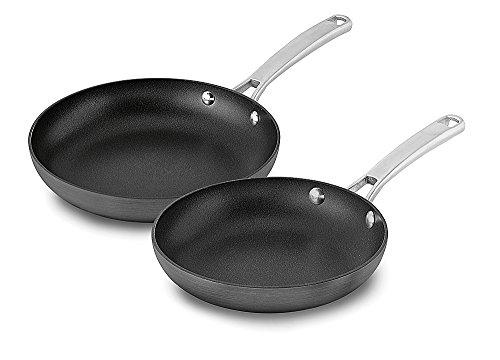 Calphalon 2 Piece Classic Nonstick Fry Pan Set Grey
