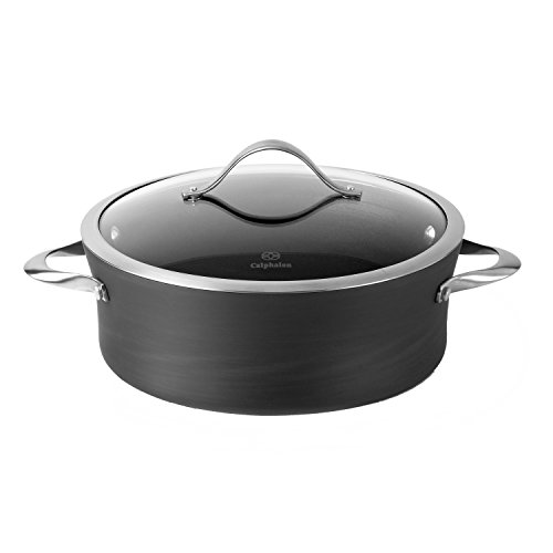 Calphalon Contemporary Hard-Anodized Aluminum Nonstick Cookware Sauce Pot 5-quart Black