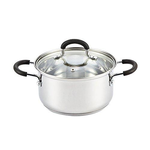 Cook N Home 02417 3 Quart Sauce Pot Casserole Pan