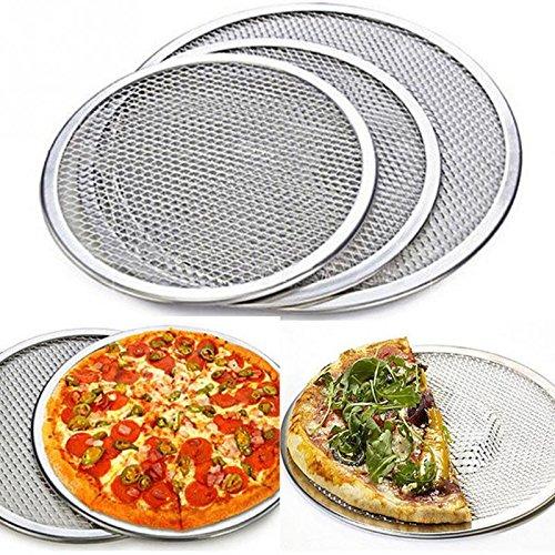 Pizza Stone 689101214Inch Aluminium Flat Mesh Pizza Screen Oven Baking Tray Net Bakeware Cookware kitchen baking tool Drop shipping 6 inch