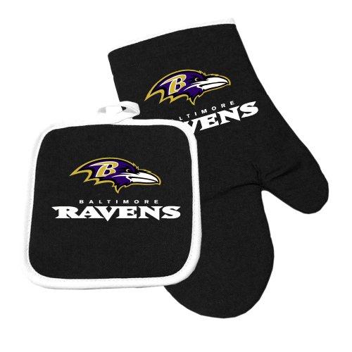 Baltimore Ravens NFL Oven Mitt and Pot Holder Set