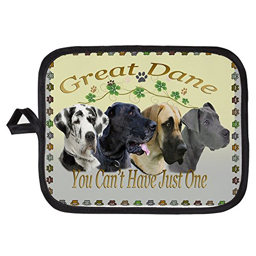 CafePress - Great Dane Cant Have Just One Blanket - Pot Holder Heat Resistant Fabric Trivet