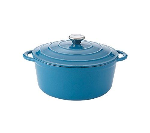 Chefs Quarters 5-Qt Cast-Iron Dutch Oven Turquoise