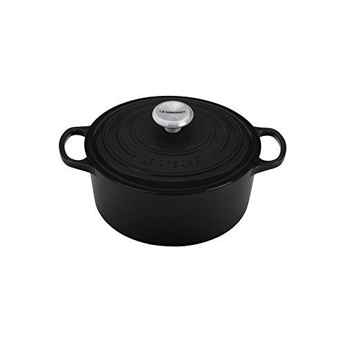 Le Creuset Signature Enameled Cast-Iron 5-12-Quart Round French Dutch Oven Black