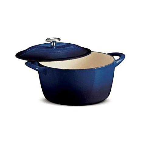 Tramontina 65 Qt Enameled Cast Iron Dutch Oven Cobalt Color