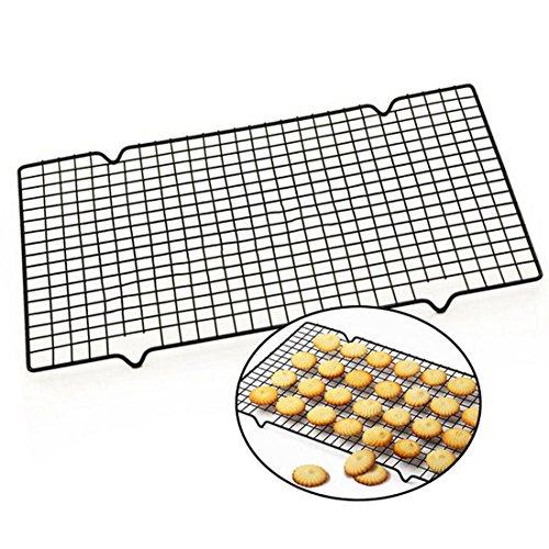 DODOING 10x16 Black Stainless Steel Nonstick Bread Wire Cooling Grid Rack CookieBiscuitBreadPieCake Baking Racks 25x40cm 1 Pack