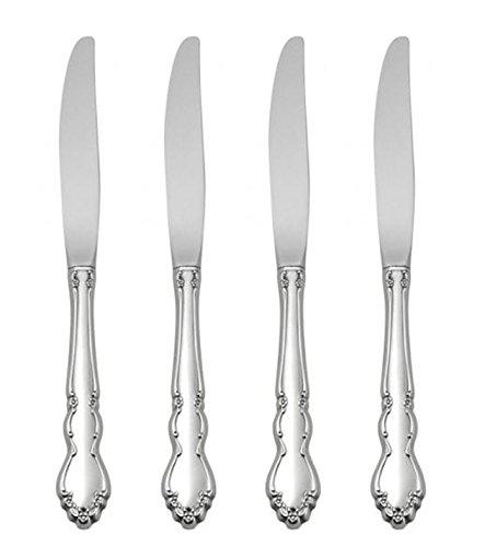 Oneida Dover Fine Flatware Set 1810 Stainless Set of 4 Dinner Knives