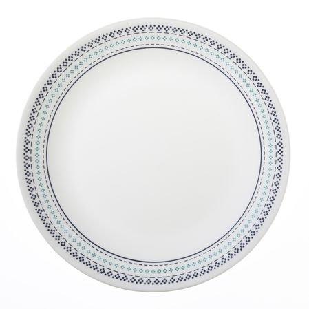 "Corelle Livingware Folk Stitch 10-14"" Dinner Plate Set of 6"