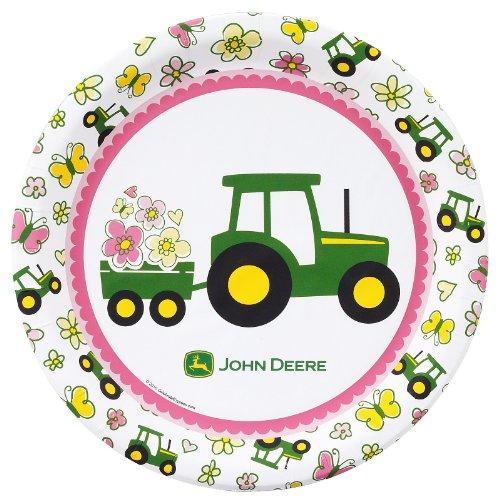 John Deere Pink - Dinner Plate 16