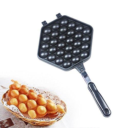 ELEOPTION Waffle Maker Egg Bubble Pan Nonstick Aluminum Alloy Eggettes Pan Cake Baking Mold Plate For Home Kitchen Use For Egg Waffle Pan 30Holes