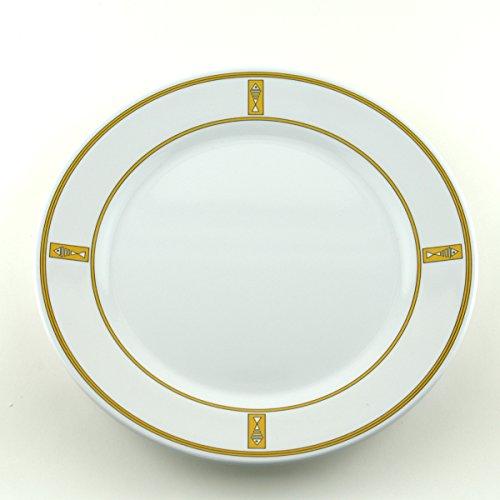 Galleyware Gold Fish Melamine Non-Skid Dinner Plates Set Of 6