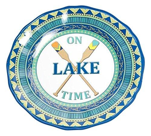 Galleyware On Lake Time Melamine Non-Skid Dinner Plate Set Of 6