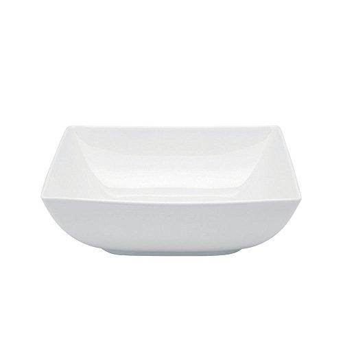 Carré White Salad Bowl