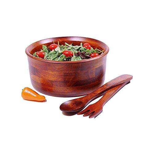 Woodard Charles 3 Piece Medium Salad Bowl with Servers Set Cherry