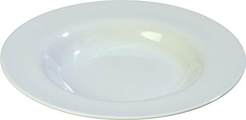 Carlisle 3303002 Sierrus Melamine Soup  Salad Bowls 20-oz White  Set of 12