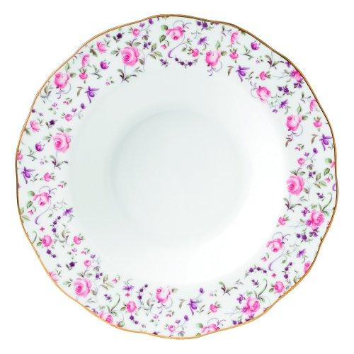 Royal Albert Rose Confetti Formal Vintage Rimmed SoupSalad Bowl