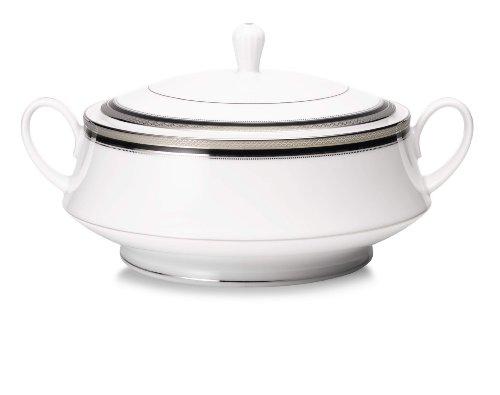 Noritake Austin Platinum Covered Vegetable Serving Bowl