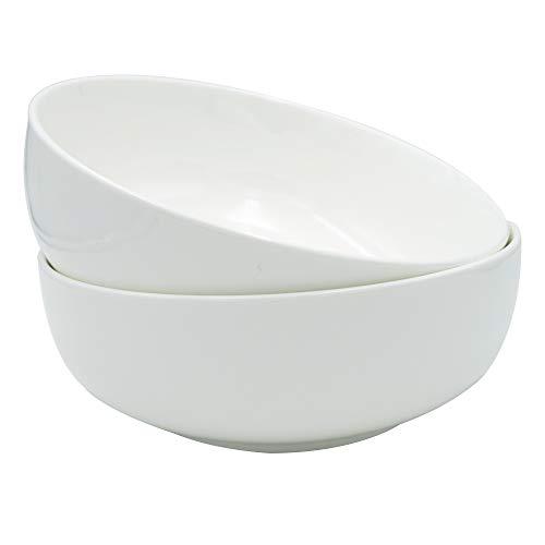 Porcelain Serving Bowls - SaladPasta Bowl Set White 1-13 Quart 50oz 2 PacksB2