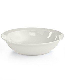 Martha Stewart Collection Harlow Talc White Dinner Bowl