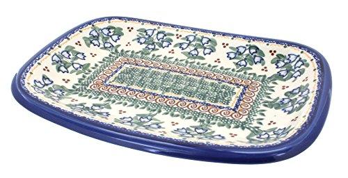 Polish Pottery Bluebell Medium Rectangular Serving Dish