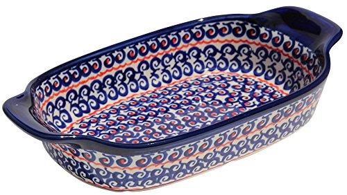 Polish Pottery Rectangular Serving Dish From Zaklady Ceramiczne Boleslawiec 1281-1126a Length 10 Width 525