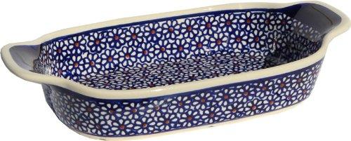 Polish Pottery Rectangular Serving Dish From Zaklady Ceramiczne Boleslawiec 1281-120 Length 10 Width 525