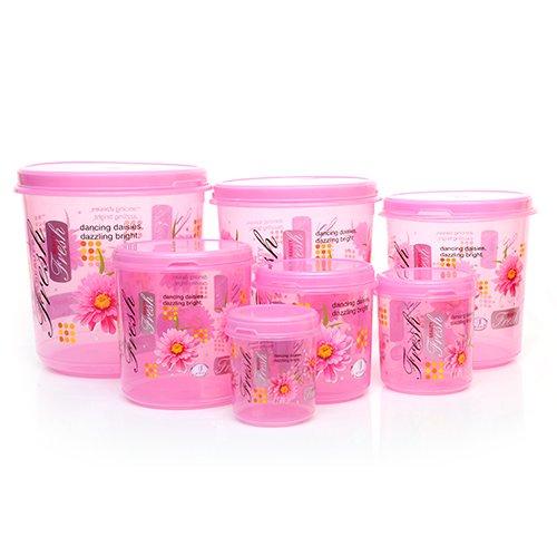 Joyo Storewell Plastic Container Set 7-Pieces Multicolour Plastic
