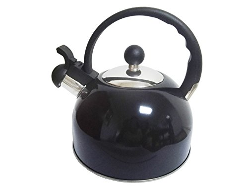 Royal Cook RC2374 264 quart Stainless Steel Whistling Tea Kettle Black 25 L