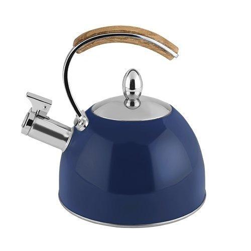 Tea Kettle Stainless Steel Presley Navy Stovetop Whistling Tea Kettle