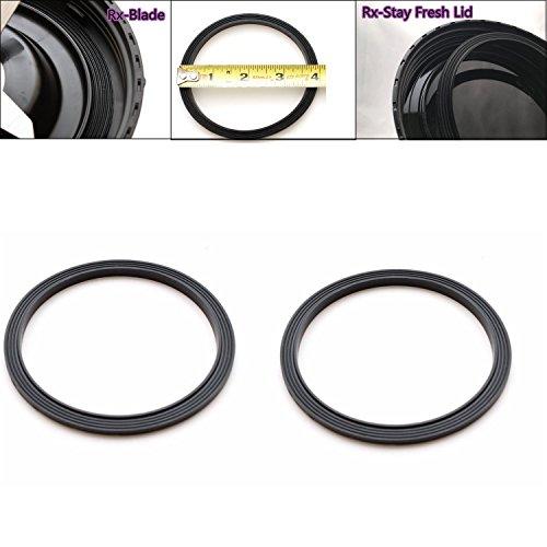ELEFOCUS Replacement Blender Gasket for Nutribullet Rx 1700w-Set of 2-Black