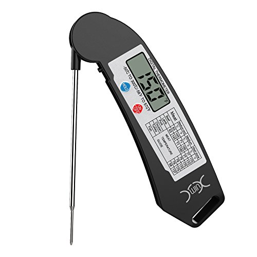 YXwin Instant Read Meat Thermometer Cooking Thermometer Super Fast Digital Electronic Probe Food Thermometer for Grill Cooking Meat Kitchen Candy