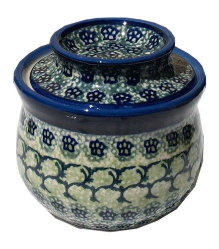 Polish Pottery French Butter Dish From Zaklady Ceramiczne Boleslawiec 1512-du41 Unikat Pattern