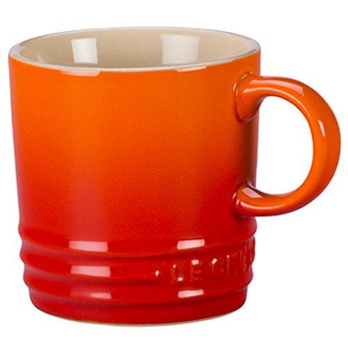 Le Creuset Flame Stoneware 35 Ounce Petite Espresso Mug Set of 4