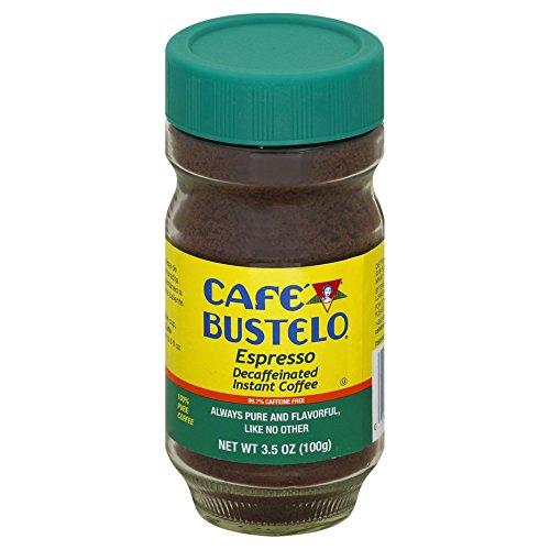 Café Bustelo Decaffeinated Instant Espresso 97  Caffeine Free 35-Ounce Jars Pack of 4
