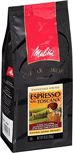 Melitta Café de Europa Gourmet Coffee Espresso della Toscana Ground Espresso Roast 10-Ounce