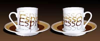 Espresso Demitasse Cup Saucer - Set of 6