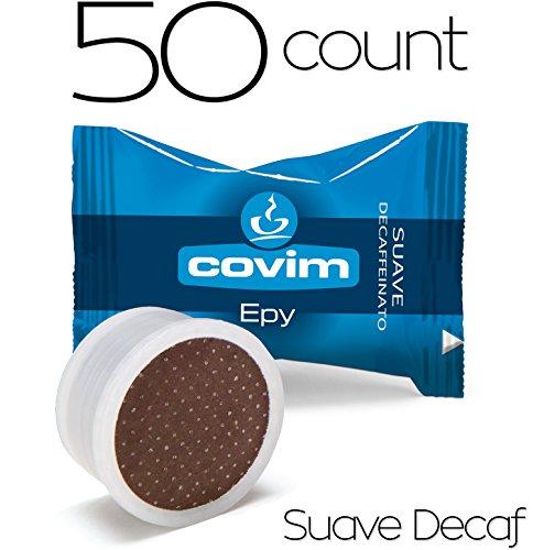 Caffe Covim Epy - 7gr Espresso Coffee Capsules - Lavazza Espresso Point Machine Compatible - SuaveDecaf 50 Count