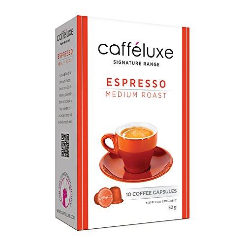 Caffeluxe Nespresso Compatible Espresso Coffee Capsules Medium Roast 60 Count