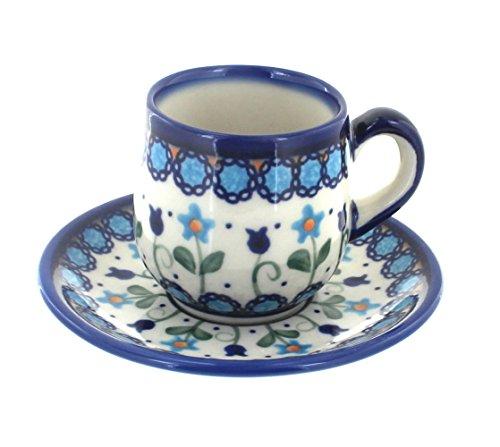 Polish Pottery Savannah Espresso Cup Saucer