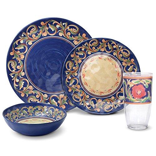 Pfaltzgraff Villa Della Luna Melamine Outdoor Dinnerware Set 32 Piece