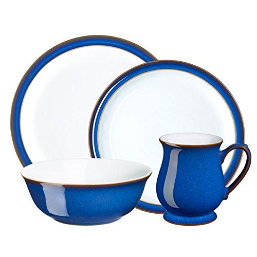 Denby 16 Piece Imperial Blue Dinnerware Set Royal Blue