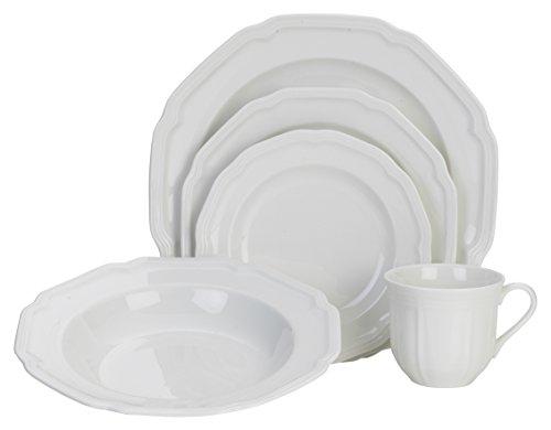 Mikasa 5224779 40 Piece Dinnerware Set Antique White