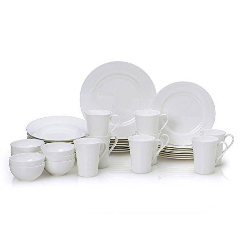 Mikasa Lucerne White 40 Piece Dinnerware Set - Whi