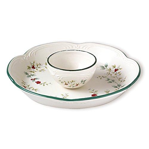 Pfaltzgraff 10966000 Winterberry Round Chip And Dip Dinnerware Set Assorted