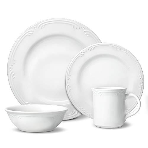 Pfaltzgraff Filigree 48 Piece Dinnerware Set Service for 12