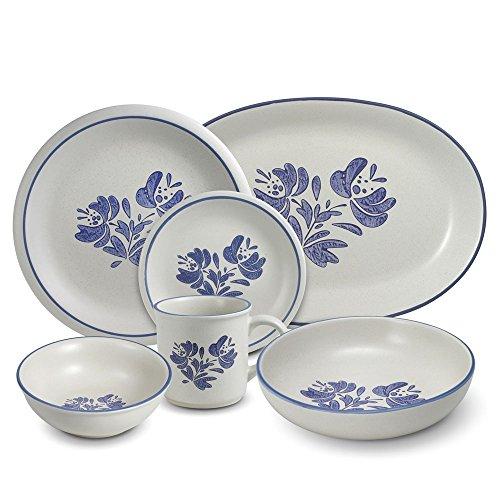 Pfaltzgraff Yorktowne 34 Piece Dinnerware Set with Serveware Service for 8