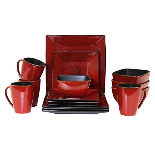 Elama 16 Piece Modern Premium Stoneware Set with Complete Setting for 4 Harland Loft