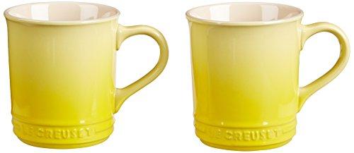 Le Creuset of America Stoneware Set of 2 Mugs 12-Ounce Soleil