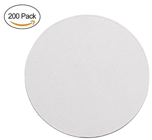 TravelWell Round 354 Inch Diameter Thicker 08 MM Non Slip Drink White Paper Coaster Set – Set of 200